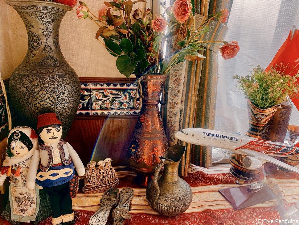 トルコの民芸品や美しいタイルが可愛らしい♪