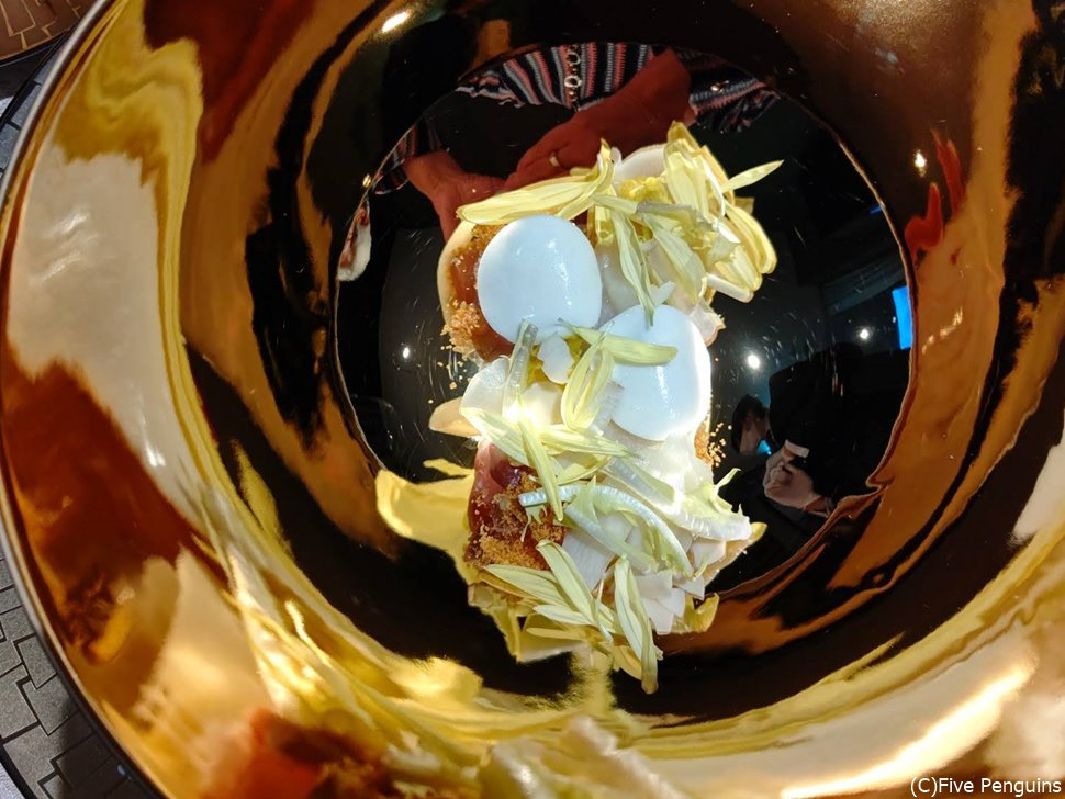真鯛とホワイトアスパラ 菊花のアグロドルチェ