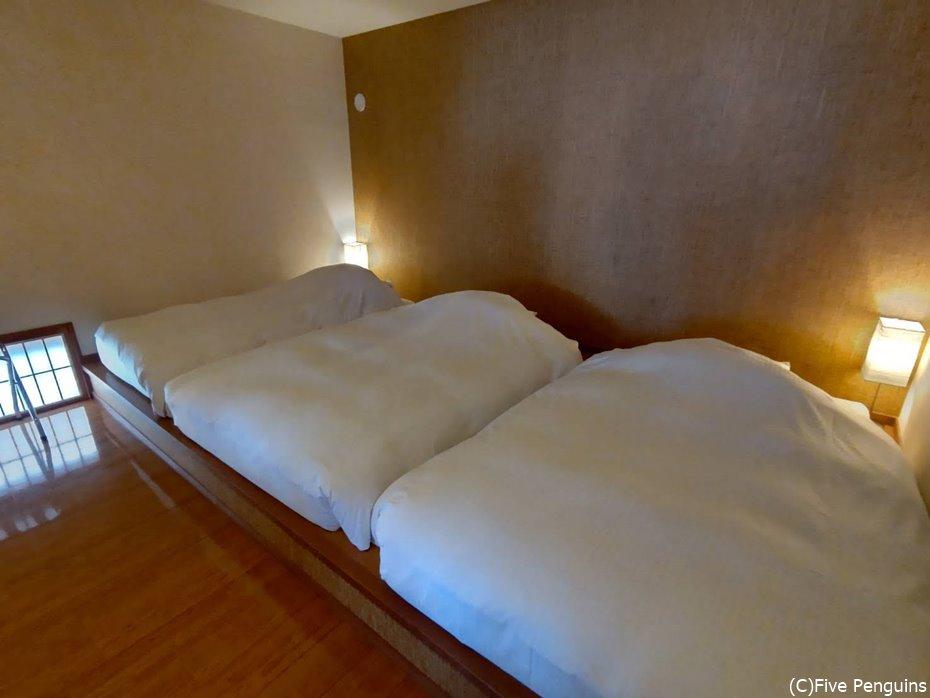 3人で泊まった為ベッド3つですが、本来は2人で広々