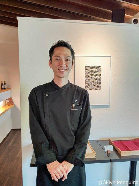 謙虚で人柄の良い若きオーナーシェフの竹中厚志氏
