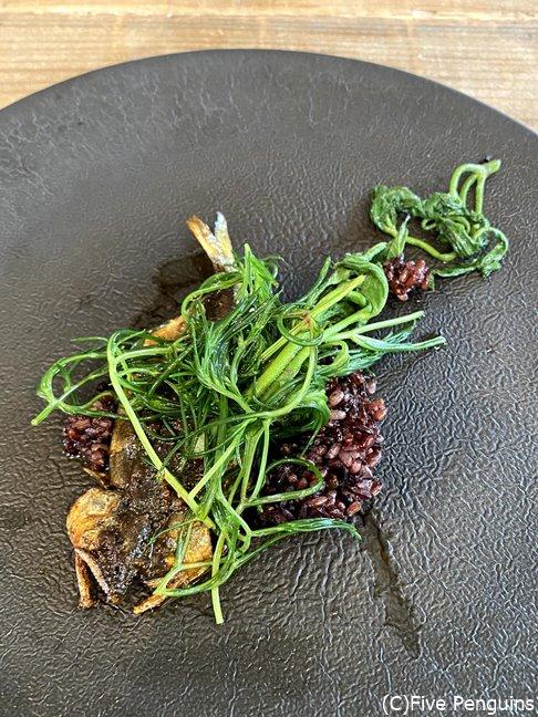 有田川で養殖された鮎 赤米 おかひじき