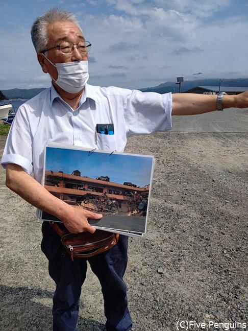 津波の恐ろしさを語る語り部の立花さん