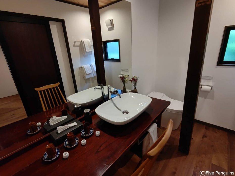 新しい宿だけあって、水回りの設備も完璧