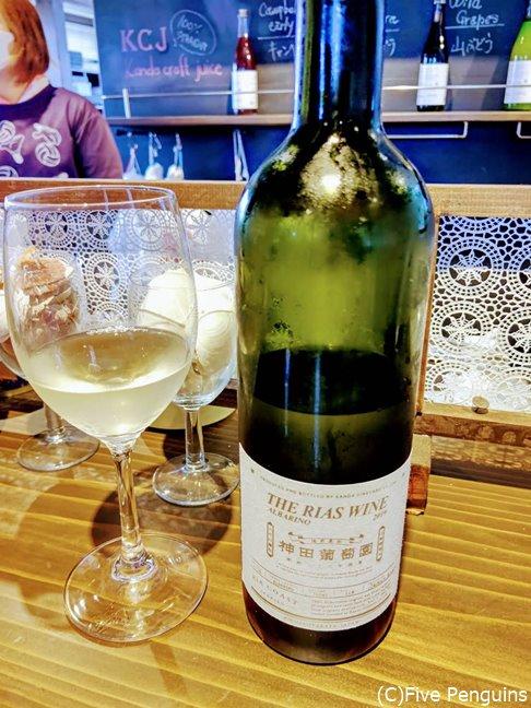 海のワイン・アルバリーニョを試飲