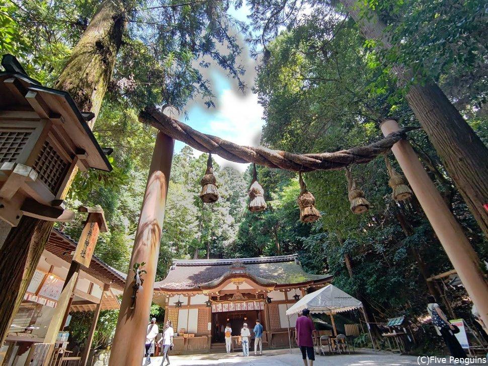 狭井神社。ここからご神体の三輪山への登山をする