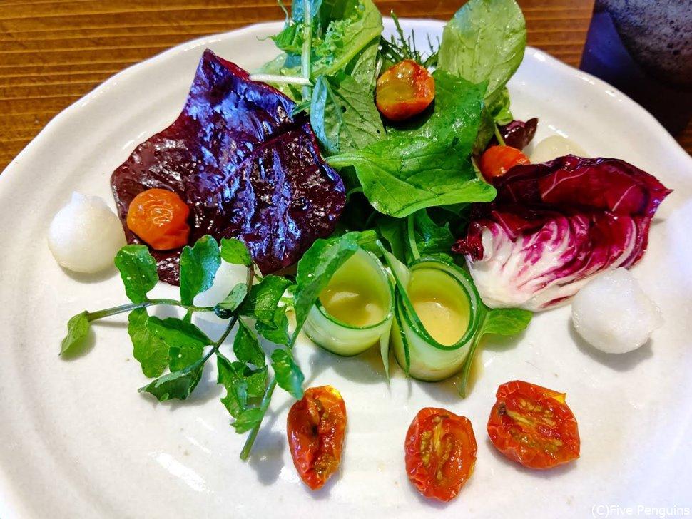 出張シェフによる新鮮野菜のベジタリアンメニュー