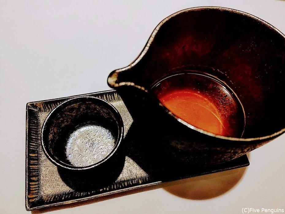 深い味わいの榊山和牛のコンソメスープ