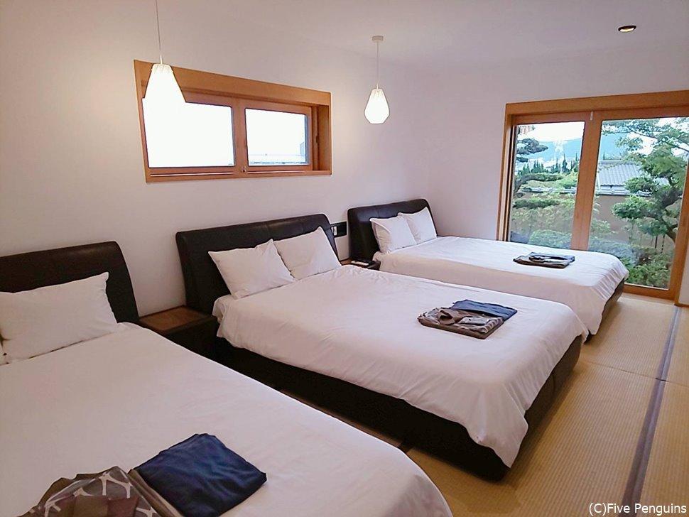 お部屋はシンプルで清潔感あり。やっぱり畳は落ち着きます。
