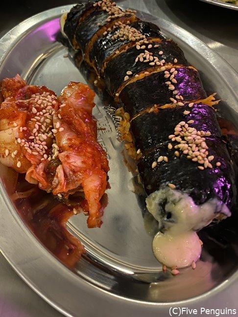 これをまた食べに行きたいと思う一品、韓国海苔巻き大好き